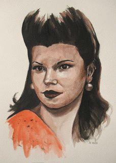 Pinturas e debuxos: Tilduca. A miña sogra de mociña