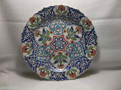 Vintage Islamic Iznik Turkish OTTOMAN Pottery Ceramic PLATE