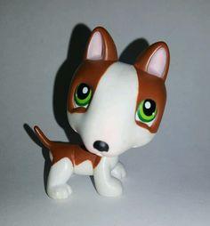Littlest Pet Shop Brown White Dog Bull Terrier Green Eyes #154 Preowned LPS in Toys & Hobbies, Preschool Toys & Pretend Play, Littlest Pet Shop | eBay