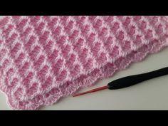 Çok Kullanışlı Tığ İşi Bebek Battaniyesi - YouTube Crochet Stitches, Crochet Patterns, Crochet Baby, Knit Crochet, Crochet Necklace Pattern, Crochet Video, Knitted Afghans, Blanket, Knitting