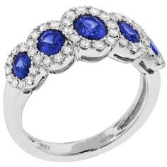 Spark Creations - R 5633-S 0.55 CT DIAMOND 1.66 CT SAPPHIRE RING