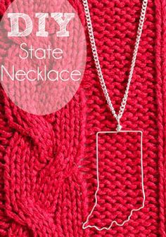 DIY How to make a State Necklace.