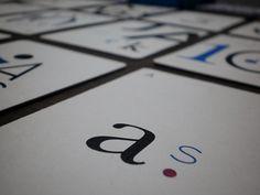 Naipes tipográficos by Damian Jimenez, via Behance