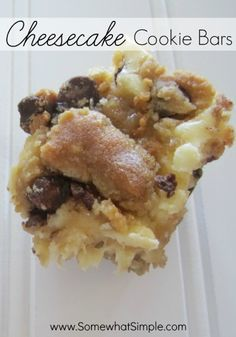 cheesecake cookie bars - you had me at cheesecake. #dessertideas