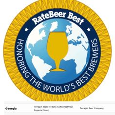 """Bummed we couldn't be there in person but proud and honored to have received """"Top Beer"""" and """"Top Brewer"""" in the state of Georgia at the Rate Beer Best Awards!! Thanks to everyone who has tasted sold and promoted Terrapin! We couldn't do it all with out y'all! (Also shout out to @reformationbrewery for Top New Brewer in GA!) #GAbeer #ratebeerbest #wakenbake #georgia #beerawards #ratebeer #craftbeer"""
