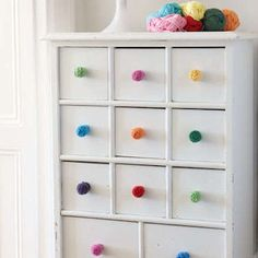 Crochet covered drawer pulls for craft lovers