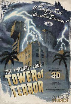 Tower of Terror (Unofficial), Walt Disney Studios, Disneyland Paris Scrapbook Disney, Ideas Scrapbook, Scrapbooking, Disneyland Vintage, Vintage Disney Posters, Disneyland Trip, Vintage Mickey, Disney Crafts, Disney Love