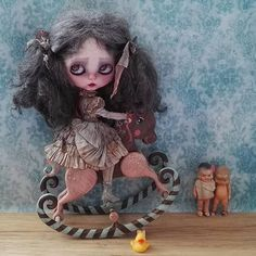 Miss Polly had a Dolly - Corentina &  rocking horse #woodenhorse...