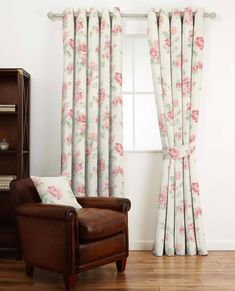 Laura Ashley home furnishings draw beauty from the English Countryside, with designer fabrics, wallpaper & decor for every room. Blush Curtains, Floral Curtains, Floral Fabric, Laura Ashley Curtains, Laura Ashley Fabric, Blush Wallpaper, Wallpaper Decor, Draped Fabric, Curtain Fabric