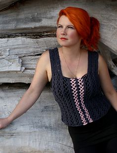 Enmeshed Top Crochet Pattern from Mary Beth Temple of Hooked for Life