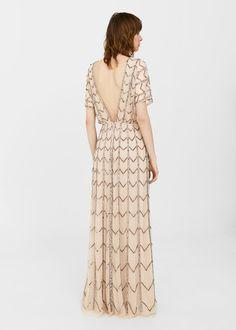 Φόρεμα τούλι με πούλιες | MANGO ΜΑΝΓΚΟ