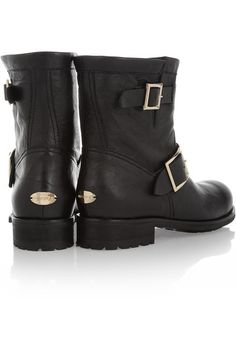 Jimmy Choo - Youth Leather Ankle Boots - Black - IT40.5