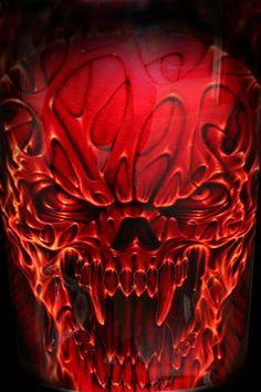 All About Art Tattoo Studio Rangiora. Quality work by Professional Artist. Air Brush Painting, Car Painting, Pinstriping, Airbrush Skull, Custom Paint Motorcycle, Skull Pictures, Custom Airbrushing, Skull Artwork, Demon Art