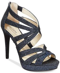 Alfani Women's Cymball Caged Platform Evening Sandals, Only at Macy's - Heels - Shoes - Macy's