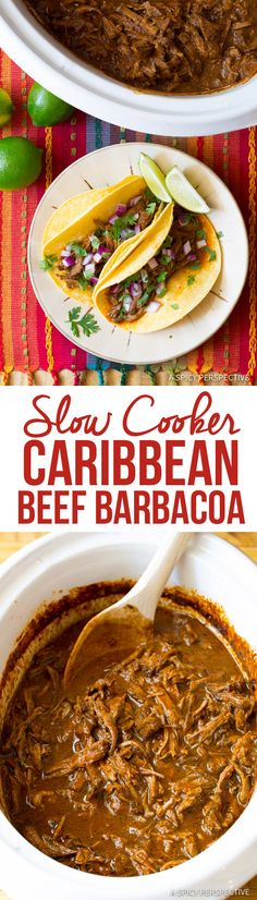 Perfect Slow Cooker Barbacoa Recipe | ASpicyPerspective.com