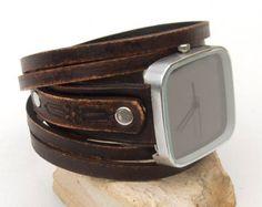 Womens leather watch Rustic Wrist Watch Wrap by Jullyetcreations