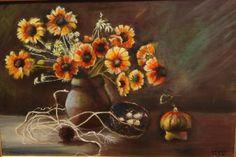 Artist: Afionis Olivia title: Flowers dim:60x40 oil painting price: 550 euro Joomla Templates, Painting, Gallery, Euro, Artist, Artworks, Greece, Flowers, Oil