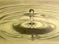 Cómo dibujar gotas de agua al carboncillo - Arte Divierte. - YouTube