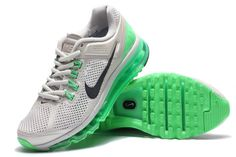 Billige Nike Air Max 2013 løbesko air sole Mesh Danmark gray cyan