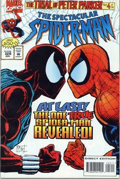 Spectacular Spider-Man #226, July 1995, cover by Sal Buscema and Bill Sienkiewicz