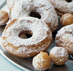 These old-fashioned cake doughnuts, aromatic with cinnamon and nutmeg, are easy to prepare. You will need a deep-frying thermometer, as you must keep the oil at a steady 365°F (185°C) for the doughnuts to turn ...