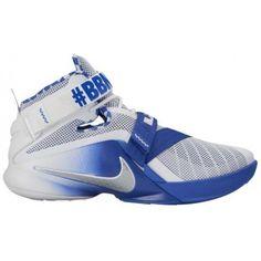 premium selection ab93d 8efff Nike Zoom Soldier 9 - Men s - Basketball - Shoes - LeBron James - White  Metallic Silver Game Royal-sku 49490104