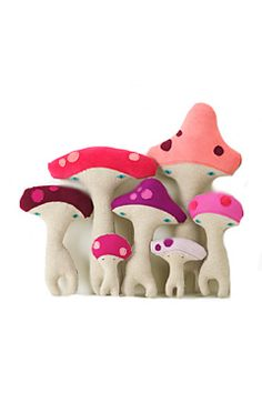 h-luv mushrooms pink red | flora and henri