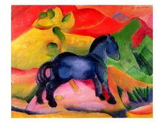 Little Blue Horse  Franz Marc