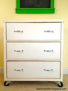 Ana White   Build a Three Drawer Rolling Dresser   Free and Easy DIY Project and Furniture Plans