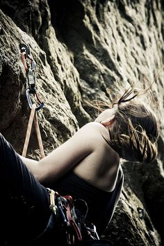 Rockclimbing..wow. Want try it someday.