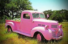 Vintage pink truck