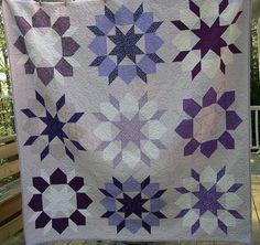 """""""Lavender Kiss"""" Swoon quilt. For a cousin's wedding."""