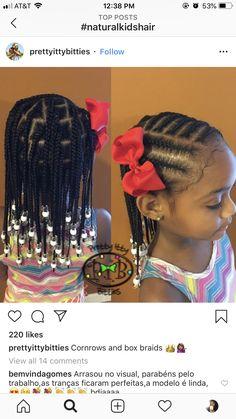 Cornrows and box braids - kids braided hairstyles - Toddler Braided Hairstyles, Toddler Braids, Black Kids Hairstyles, Baby Girl Hairstyles, Natural Hairstyles For Kids, Braids For Kids, Girls Braids, Box Braids Hairstyles, Natural Hair Styles