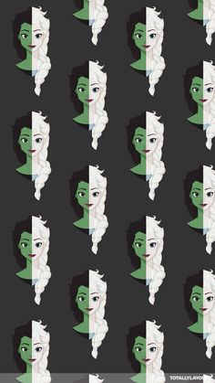 Wicked/Frozen Elphaba/Elsa iPhone Background