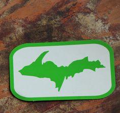 Yooper decal // U.P. Sticker // Coffee Mug Decal // Upper Peninsula Michigan Bumper Sticker // Yooper Girl Art // off to college gift // Art