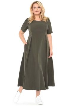 Dresses of large sizes Russian-French . Frock Fashion, Curvy Fashion, Plus Size Fashion, Fashion Dresses, Simple Dresses, Plus Size Dresses, Plus Size Outfits, Casual Dresses, Mode Turban
