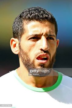 Rafik Halliche of Algeria looks on before the 2014 FIFA World Cup Brazil Group H match between Belgium and Algeria at Estadio Mineirao on June 17...