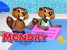 """Days of the Week"" - Teach Weekday Names, Monday, Tuesday, ESL, Kinderga..."