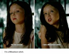 Yep she's a Mikaelson witch.and werewolf and vampire Vampire Diaries Quotes, Vampire Diaries Wallpaper, Vampire Diaries Damon, Vampire Diaries The Originals, Cw Series, Series Movies, Klaus And Hope, Sherlock, The Originals 3