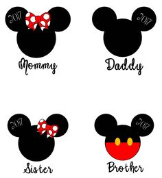Custom Disney Vacation T-shirts - Vinyl Mickey & Minnie with Name or Family Member Title - Adult and Youth Sizes - Red and White Shirts Disney Diy, Disney Mickey, Disney Vacations, Disney Trips, Mouse Paint, Mickey Mouse Wallpaper, Fashion Wall Art, Disney Family, Diy Crafts To Sell