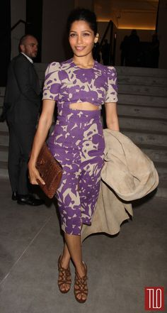 Freida Pinto at the Michael Kors Fall 2014 Show | Tom & Lorenzo Fabulous & Opinionated
