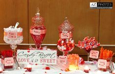 CANDY BUFFET  Love is so Sweet for candy/ dessert table. 5.5 in. X 15 in. Over 300 wedding signs in our shop.. $41.95, via Etsy.