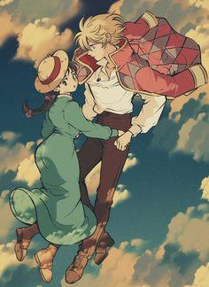 Studio Ghibli Films, Studio Ghibli Art, Hayao Miyazaki, Howls Moving Castle Wallpaper, Howl's Moving Castle, Howl Pendragon, Studio Ghibli Background, Howl And Sophie, Castle Drawing