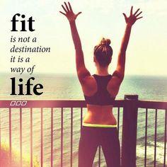 fit is not a destination, it's a way of life. #fitspo