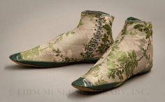 1850-55 - Woman's Boots - Silk/Leather