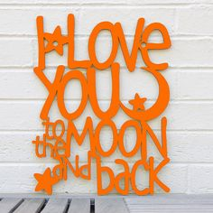 I Love You to the Moon and Back LARGE Guess How by spunkyfluff, $95.00