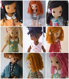 Custom Doll with her own Wardrobe by PhoebeandEgg on Etsy