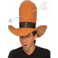 The Cowboy Hat with Arrow Costume Accessory is one of the many great costumes and accessories available for Halloween or theme parties. A great Halloween costume item! Funny Halloween Costumes, Diy Costumes, Arrow Funny, Country Bands, Costume Hats, Diy Hat, Shirt Embroidery, Western Shirts, Costume Accessories