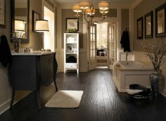 Like the dark floors with white accents