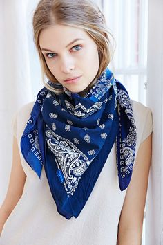 Urban Renewal Recycled Patchwork Bandana Scarf